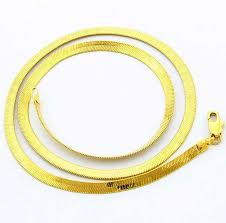 new arrival fashion 24k gp gold plated mens women men fashion jewelry 24k gold color 4mm snake flat chains