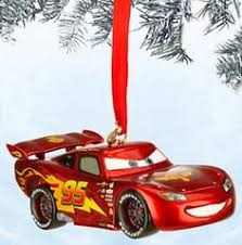 hallmark disney cars decoupage figural ornament lightning
