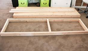 How To Build Wood Storage Shelves Garage by Diy Storage Shelves Honeybear Lane
