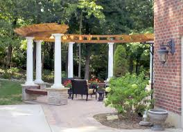 curved pergola with built in seats ideas image wood designs
