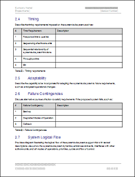 technical specification document template example cover letter