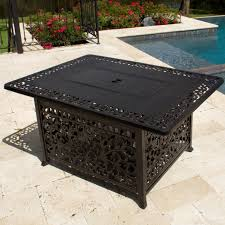 Building A Propane Fire Pit 48 Inch Rectangular Cast Aluminum Propane Fire Pit Coffee Table By