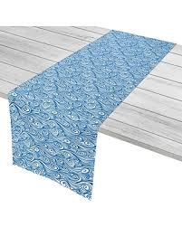 blue and white table runner new savings on island home igh trm119 dreamy sea table runner