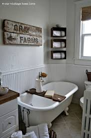 Clawfoot Bathtub Caddy Cottage 3 4 Bathroom With Wood Counters By Rhonda Montgomery Real