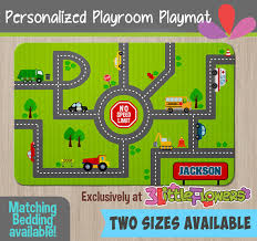 Cars Area Rug Race Tracks Playmat Personalized Playmat Personalized Playroom