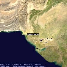 sukkur map sukkur lines sindh pakistan geography population map cities