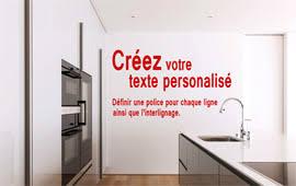stickers pour fenetre cuisine sticker citation et lettrages adhésif personnalisés sticker pour