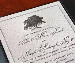 winter wedding invitation trends oak trees letterpress wedding