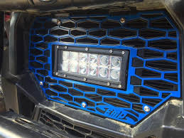 polaris rzr light bar emp polaris rzr grill with led light bar bad motorsports inc