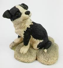 border fine arts sheep collie figurines ornaments grays gyp