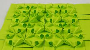 Origami Tessalation - origami tessellations â models folded by michaå kosmulski