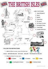 22 free esl british isles worksheets