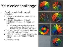 radial color wheel design we see white because all color is