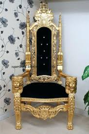 king chair rental throne chair lion throne chair in gold leaf black velvet