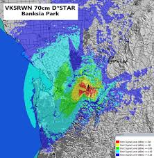 Metro Coverage Map by Vk5rwn 70cm D Star Repeater Coverage Areg