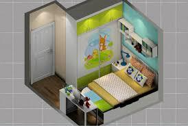 Bedroom Cartoon Overlook Minimalist Bedroom Cartoon Style 3d House