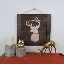 rustic stag deer wooden wall aftcra