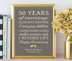 50 year anniversary gift 50th anniversary gifts golden anniversary 50 years personalized