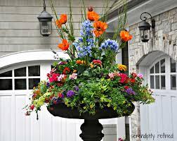 Best Spray Paint For Metal Patio Furniture - summer outdoor flower pot arrangements colorful outdoor patio
