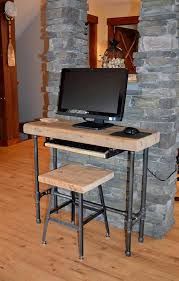 Small Wood Computer Desk Small Wood Laptop Computer Desk Reclaimed Dendroco Small