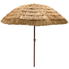 Big W Beach Umbrella Easygo 8 U0027 Thatch Patio Tiki Umbrella Tropical Palapa Raffia