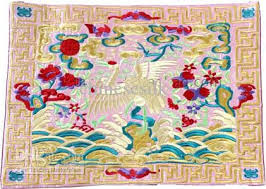 online cheap vintage party placemats design silk fabric
