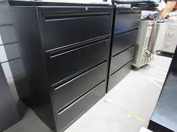 4 Drawer Lateral File Cabinet Black 4 Drawer Lateral File Cabinets Recycled Office Furnishings