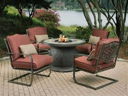 lovable patio furniture with fire pit table residence decorating