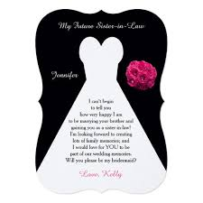 bridesmaid poems to ask future in bridesmaid poem request gown card zazzle