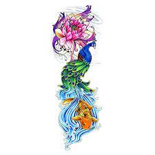 lotus flower carp peacock chinese good luck auspicious symbol