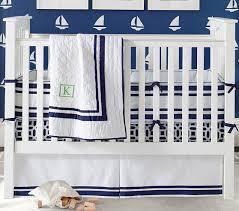 Navy Crib Bedding Harper Baby Bedding Collection Pottery Barn Kids
