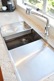 Granite Kitchen Sinks Heritage Hardware Robiq Grande Sink With Drainer Top Mounted Into