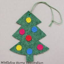 christmas decorations tree mistletoe home decoration felt for