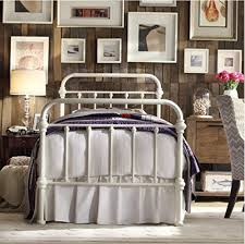 Antique White Metal Bed Frame Inspire Q Antique White Graceful Lines Iron