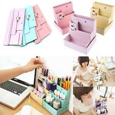 Diy Desk Decor Diy Paper Board Storage Box Desk Decor Stationery Cosmetic