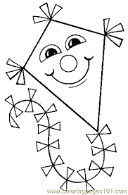 kite coloring 08 coloring free coloring pages