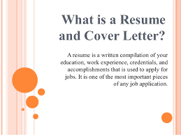 cover letter important importance of resume and cover letter