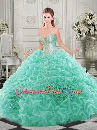 aqua green quinceanera dresses popular beaded and ruffled aqua blue unique quinceanera dress with