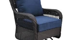 Wicker Glider Patio Furniture - shop allen roth glenlee brown wicker swivel glider patio