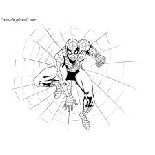 the amazing spider man drawing tutorial drawingforall net