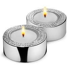 silver tea light holders pair of engraved silver diamante tea light candle holders