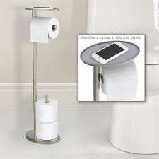 toilet paper stand toilet paper stand with phone tray