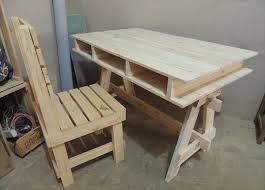 Diy Pallet Desk Diy Pallet Computer And Study Desk Ideas Pallets Desks And