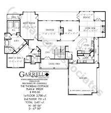 cottage floor plans thoreau cottage house plan house plans by garrell associates inc