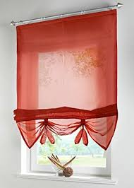 red tie up curtain amazon com