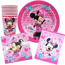 minnie mouse party supplies minnie mouse party pack for 8