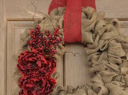 christmas burlap wreaths christmas burlap wreath christmas wreath with peony flowers