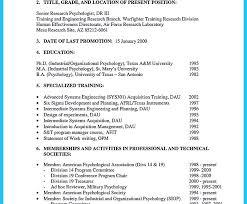 psychology sample resume cv or resume templates how to make