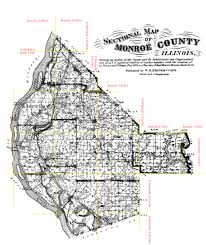 Il Map 1875 Monroe County Township Maps