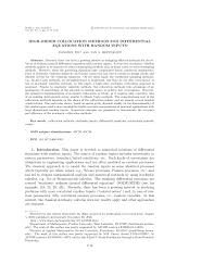 high order collocation methods for differential equations with